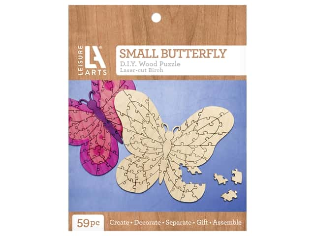 Leisure Arts Wood Puzzle Small Butterfly
