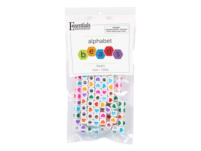 Essentials By Leisure Arts Cube Beads - 7 mm Heart 150 pc.
