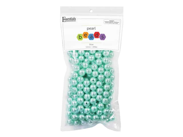 Essentials By Leisure Arts Plastic Pearls - 12 mm Blue 200 pc.