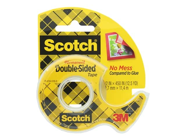 Scotch Double-Sided Permanent Tape - 1/2 x 450 in.