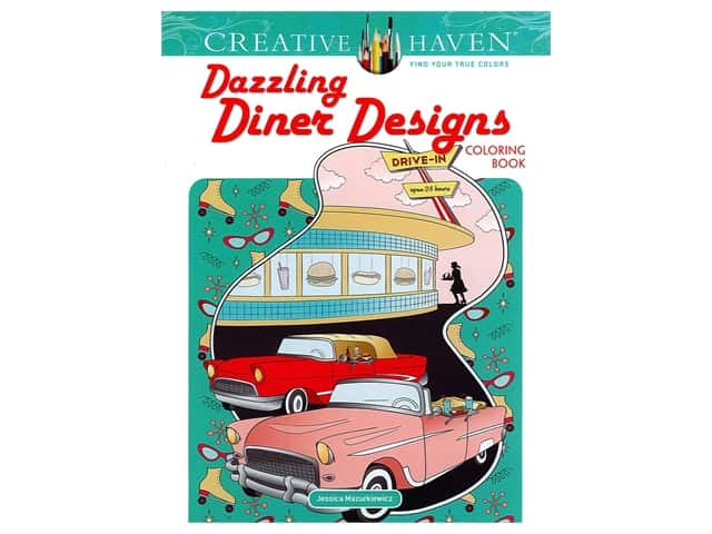 Dover Publications Creative Haven Dazzling Diner Designs Coloring Book