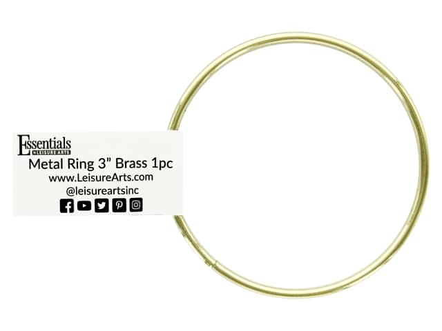 Essentials By Leisure Arts Metal Ring 3 in. Brass