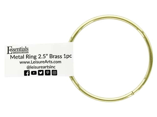 Essentials By Leisure Arts Metal Ring 2.5 in. Brass