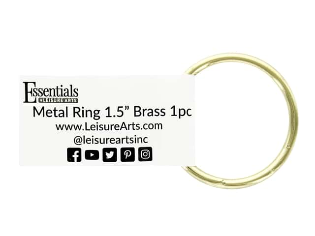 Essentials By Leisure Arts Metal Ring 1.5 in. Brass