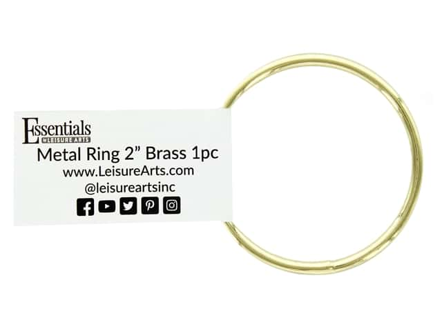 Essentials By Leisure Arts Metal Ring 2 in. Brass