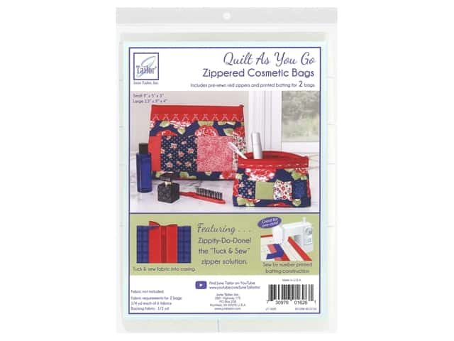 June Tailor Kit Zippity Do Done Cosmetic Bag With Red Zip