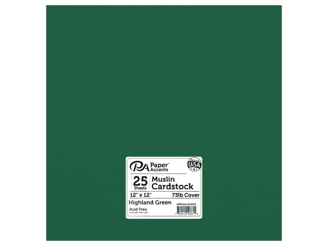 Paper Accents Cardstock 12 in. x 12 in. Textured 73 lb Highland Green 25 pc