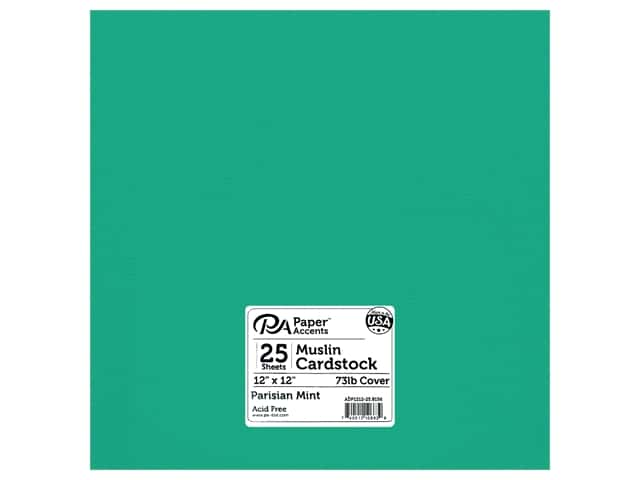 Paper Accents Cardstock 12 in. x 12 in. Textured 73 lb Parisian Mint 25 pc