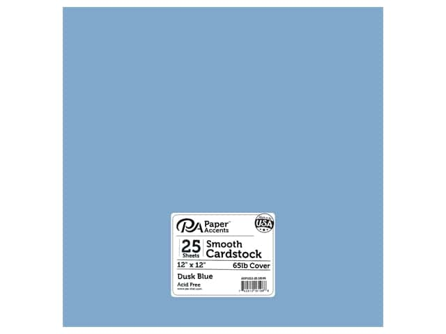 Paper Accents Cardstock 12 in. x 12 in. 65 lb Dusk Blue 25 pc