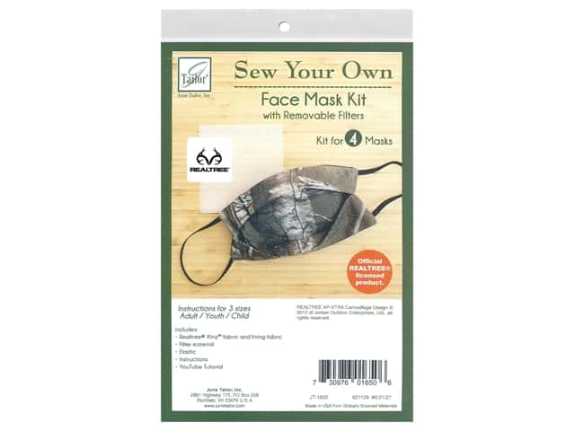 June Tailor Kit Sew Your Own XTRA Facemask 4 pc