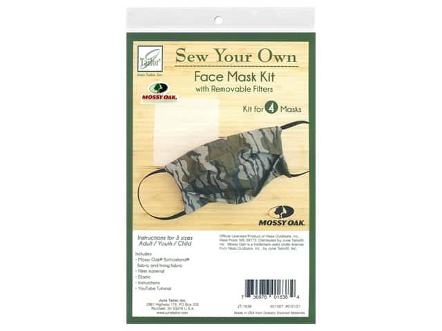 June Tailor Kit Sew Your Own Bottomland Face Mask 4 pc