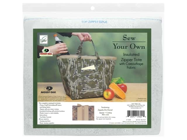 June Tailor Kit Sew Your Own Bottomland Insulated Zipper Tote