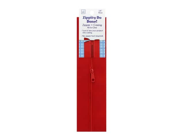 June Tailor Notions Zippity Do Done 18 in. Zipper Red