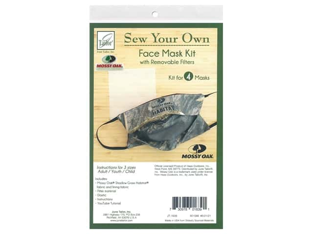June Tailor Kit Sew Your Own Shadow Grass Face Mask 4 pc