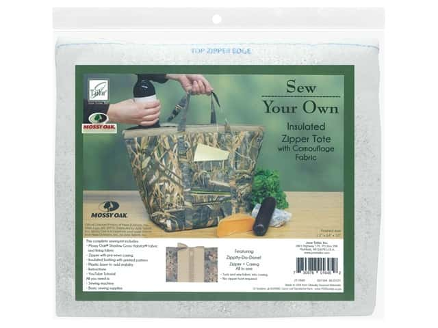 June Tailor Kit Sew Your Own Shadow Grass Insulated Zipper Tote