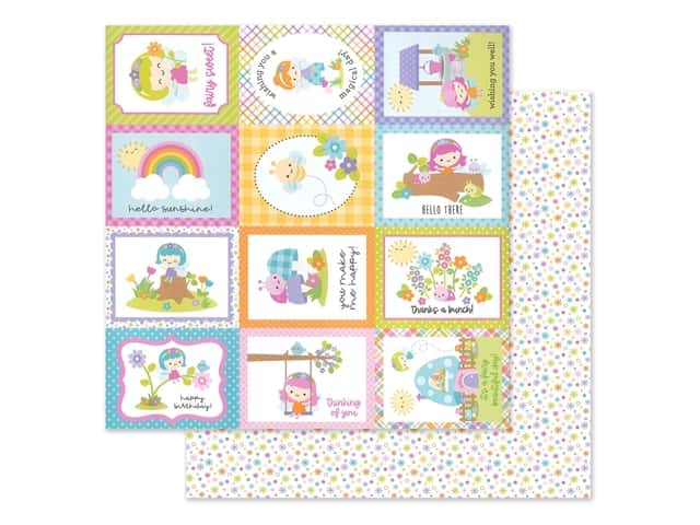 Doodlebug Collection Fairy Garden Paper 12 in. x 12 in. Fairy Dust