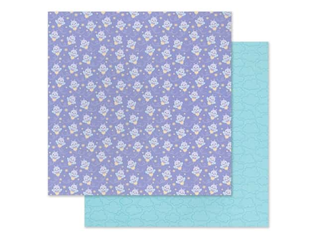 Doodlebug Collection Fairy Garden Paper 12 in. x 12 in. Glow Bugs