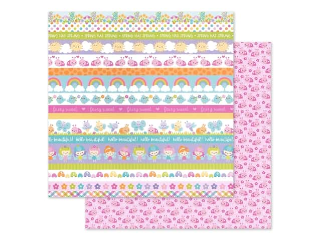 Doodlebug Collection Fairy Garden Paper 12 in. x 12 in. Little Ladies