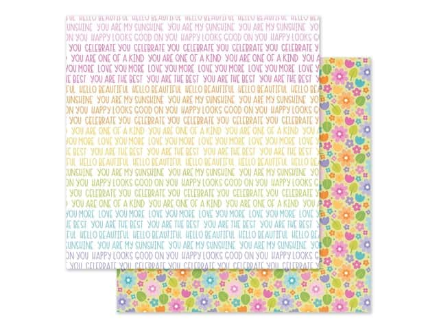 Doodlebug Collection Fairy Garden Paper 12 in. x 12 in. Magical Meadow