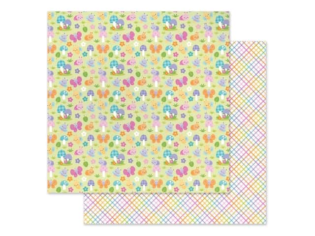 Doodlebug Collection Fairy Garden Paper 12 in. x 12 in. Bug Babies