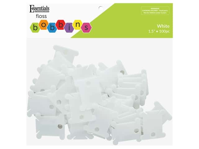 Essentials By Leisure Arts Floss Bobbins Plastic Package 100 pc