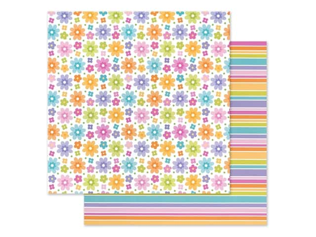 Doodlebug Collection Fairy Garden Paper 12 in. x 12 in. Fairy Floral
