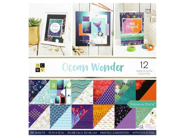 Die Cuts with a View 12 x 12 in. Paper Stack Ocean Wonder
