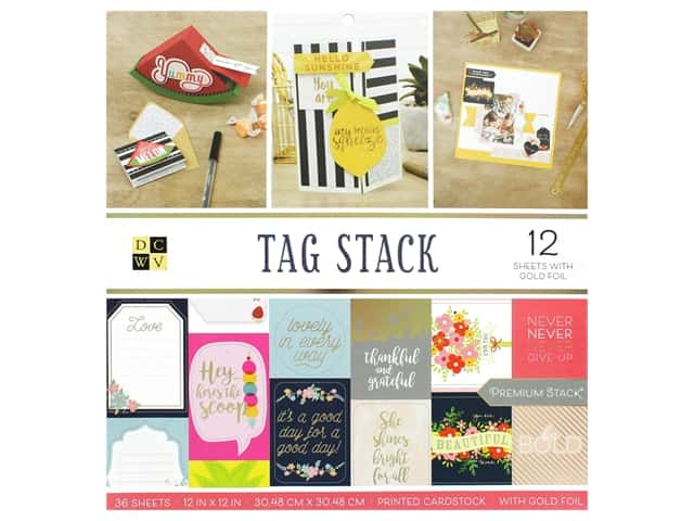 Die Cuts with a View 12 x 12 in. Paper Stack Tag Stack