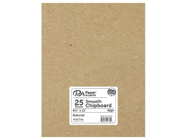 Paper Accents Chipboard 8 1/2 x 11 in. 42 pt. XL Heavy Natural 25 pc.