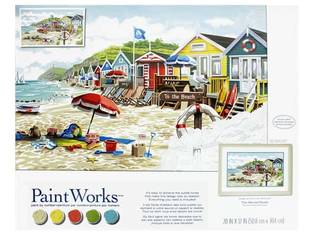 Paint Works Paint By Number Kit To The Beach