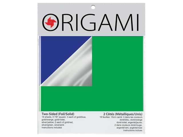 Yasutomo Origami Paper Two Sided Foil 5.88 in. Assorted 18 pc
