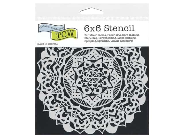 The Crafter's Workshop Stencil Template 6 in. x 6 in. Fancy Mandala