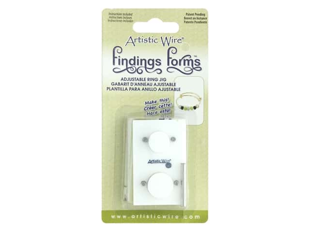 Artistic Wire Findings Form Adjustable Ring Jig