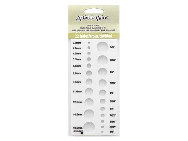 Artistic Wire Acrylic Draw Plate 22 Holes