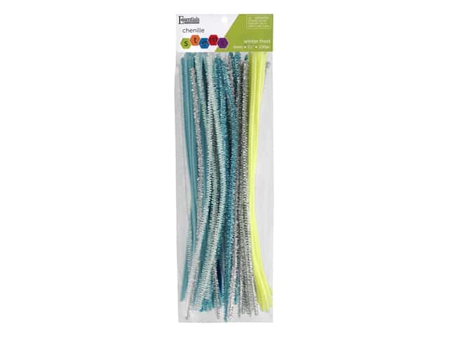Essentials By Leisure Arts Chenille Stems - 6 mm x 12 in. - Winter Frost Assorted 100 pc.