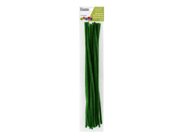 Essentials By Leisure Arts Chenille Stems - 6 mm x 12 in. - Moss Green 25 pc.
