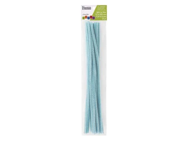 Essentials By Leisure Arts Chenille Stems - 6 mm x 12 in. - Light Ice Blue 25 pc.