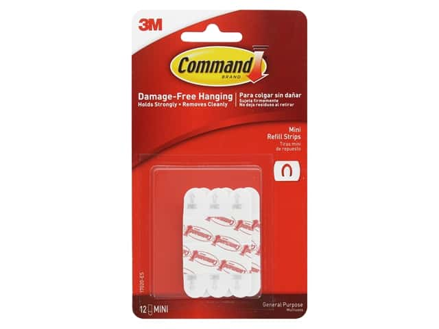 Command Adhesive Replacement Strips Refill Strips Mini .5