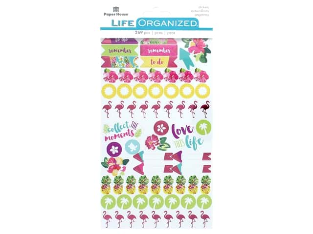 Paper House Collection Life Organized Sticker Embrace Today