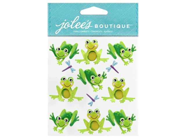 Jolee's Boutique Stickers Repeat Cutesy Frogs