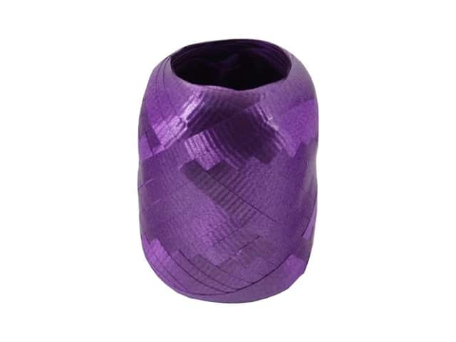 Offray Curling Ribbon Keg 3/16 in. x 40 ft. Crimped Purple