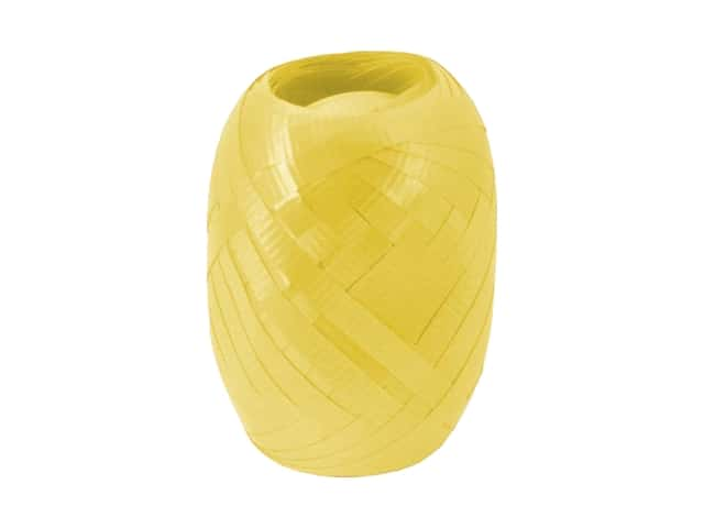 Offray Curling Ribbon Keg 3/16 in. x 40 ft. Crimped Yellow