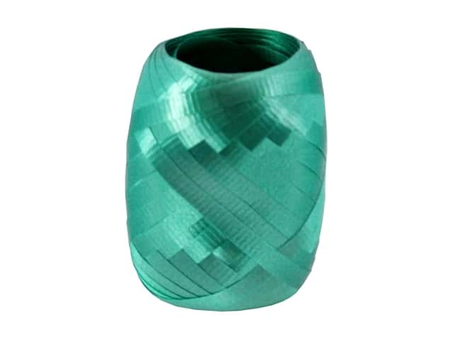Offray Curling Ribbon Keg 3/16 in. x 40 ft. Crimped Emerald