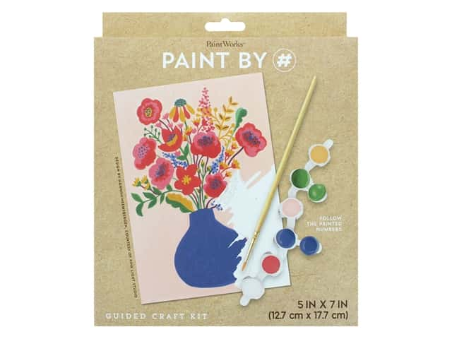 Paint Works Paint By Number Kit Floral