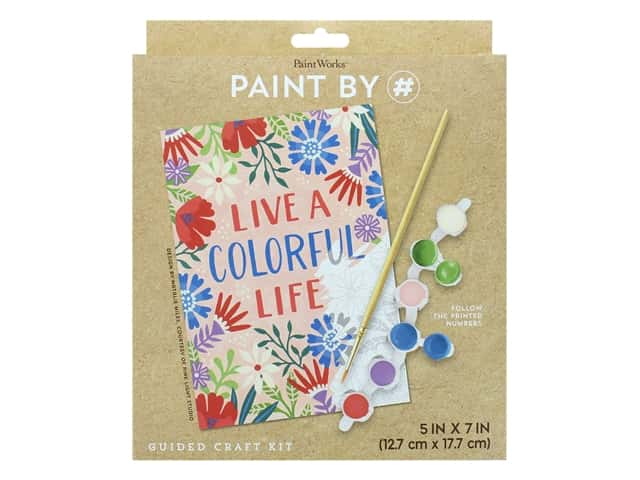 Paint Works Paint By Number Kit Live A Colorful Life