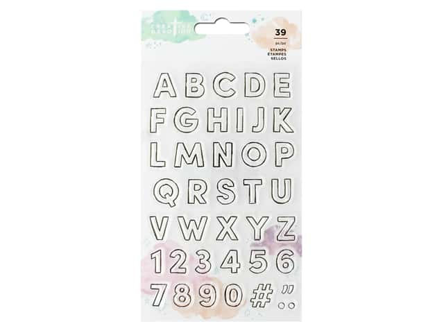 American Crafts Creative Devotion Draw Near Clear Stamps Alphabet
