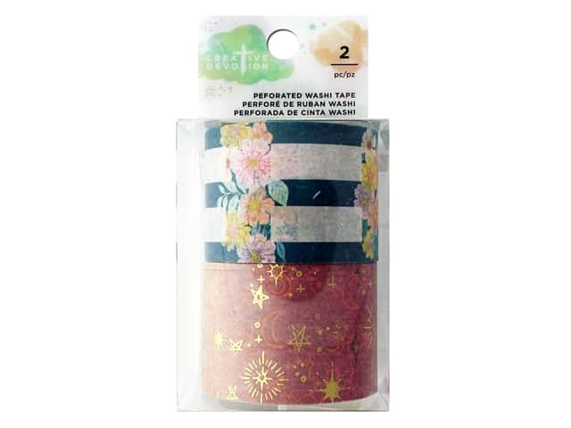 American Crafts Creative Devotion Draw Near Washi Tape Perforated Gold