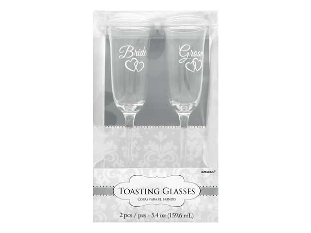 Amscan Collection Bridal Toasting Glasses Bride & Groom