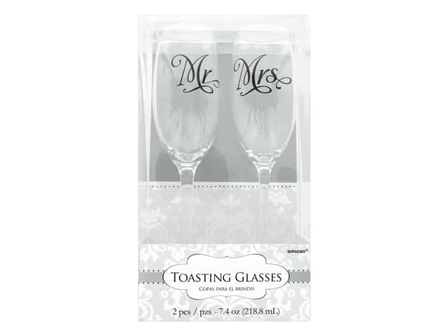 Amscan Collection Bridal Toasting Glasses Mr. & Mrs.