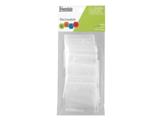 Essentials By Leisure Arts Reclosable Bag 2 mil 1.5 in. x 1.5 in. 100 pc